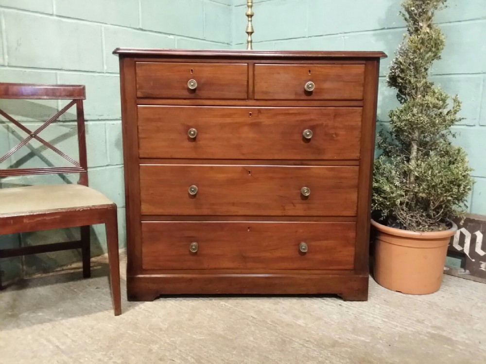 Vintage Chest Of Drawers ~ Antique victorian mahogany chest of drawers c