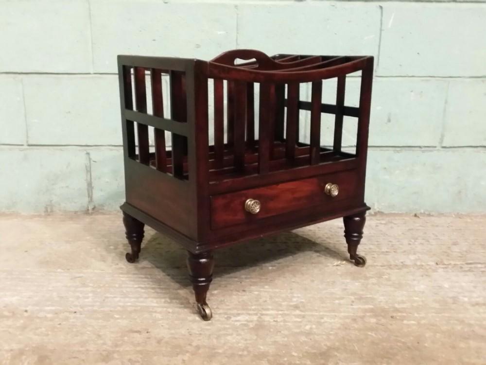 antique georgian mahogany canterbury c1780