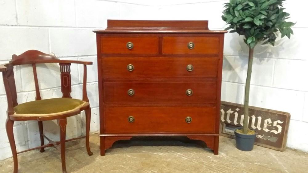 antique edwardian mahogany chest of drawers c1900
