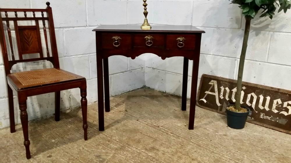 antique small georgian period mahogany lowboy c1780