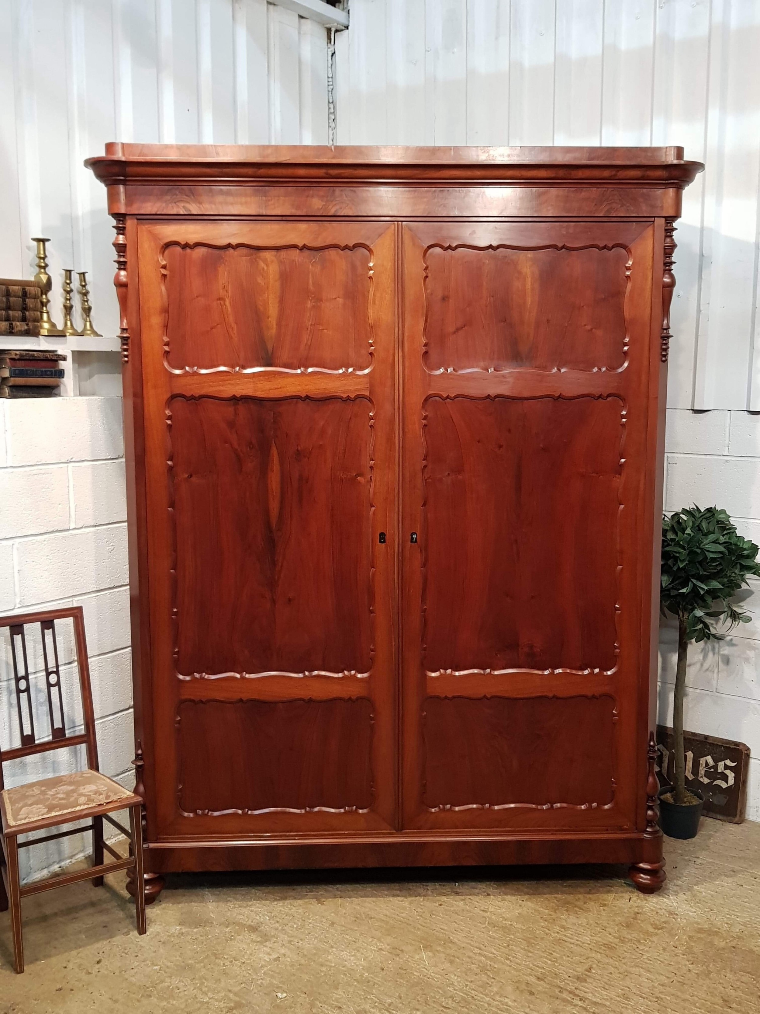 antique 19th century french mahogany armoire c1880