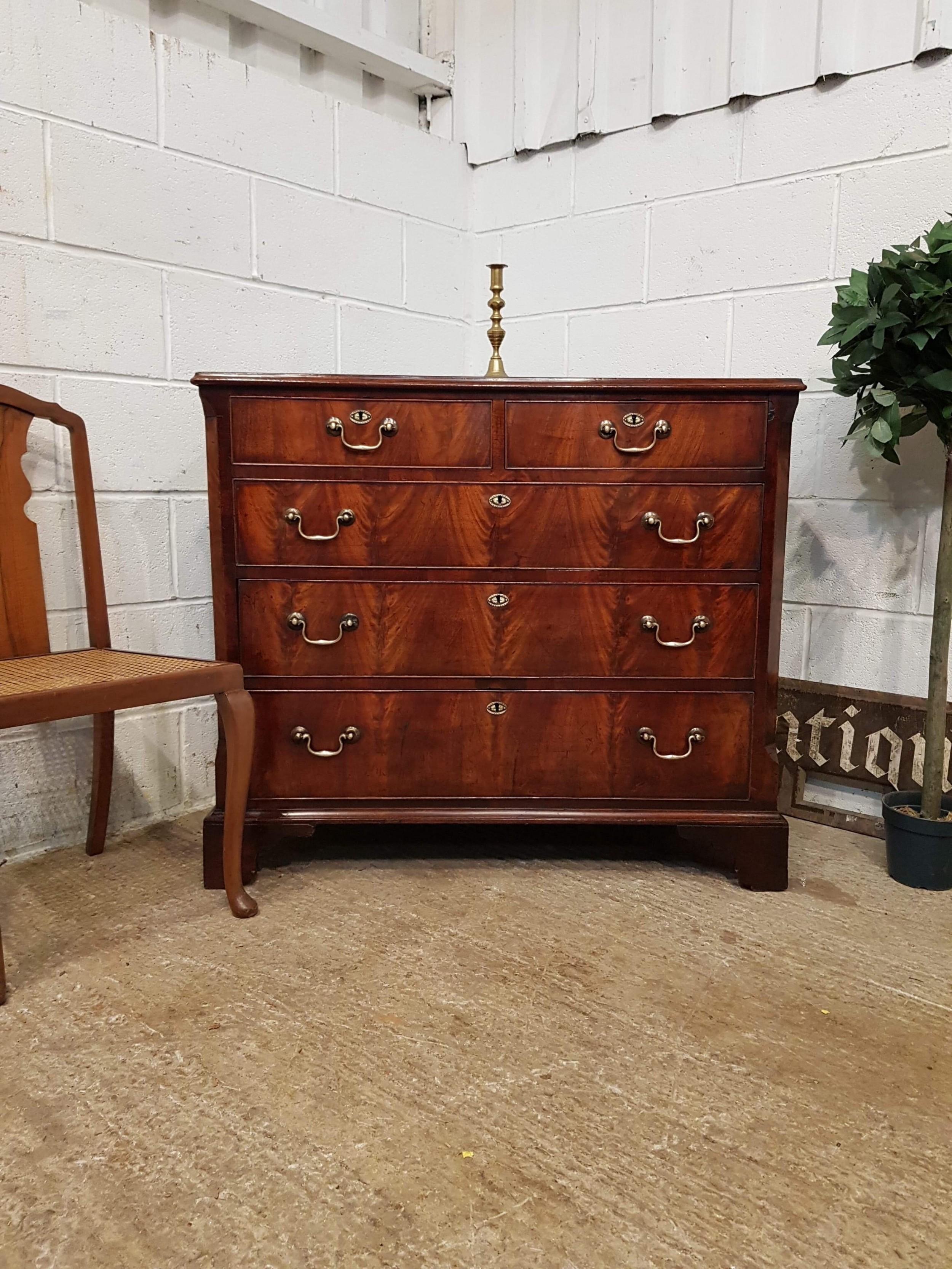 antique 18th century georgian period mahogany chest of drawers c1780