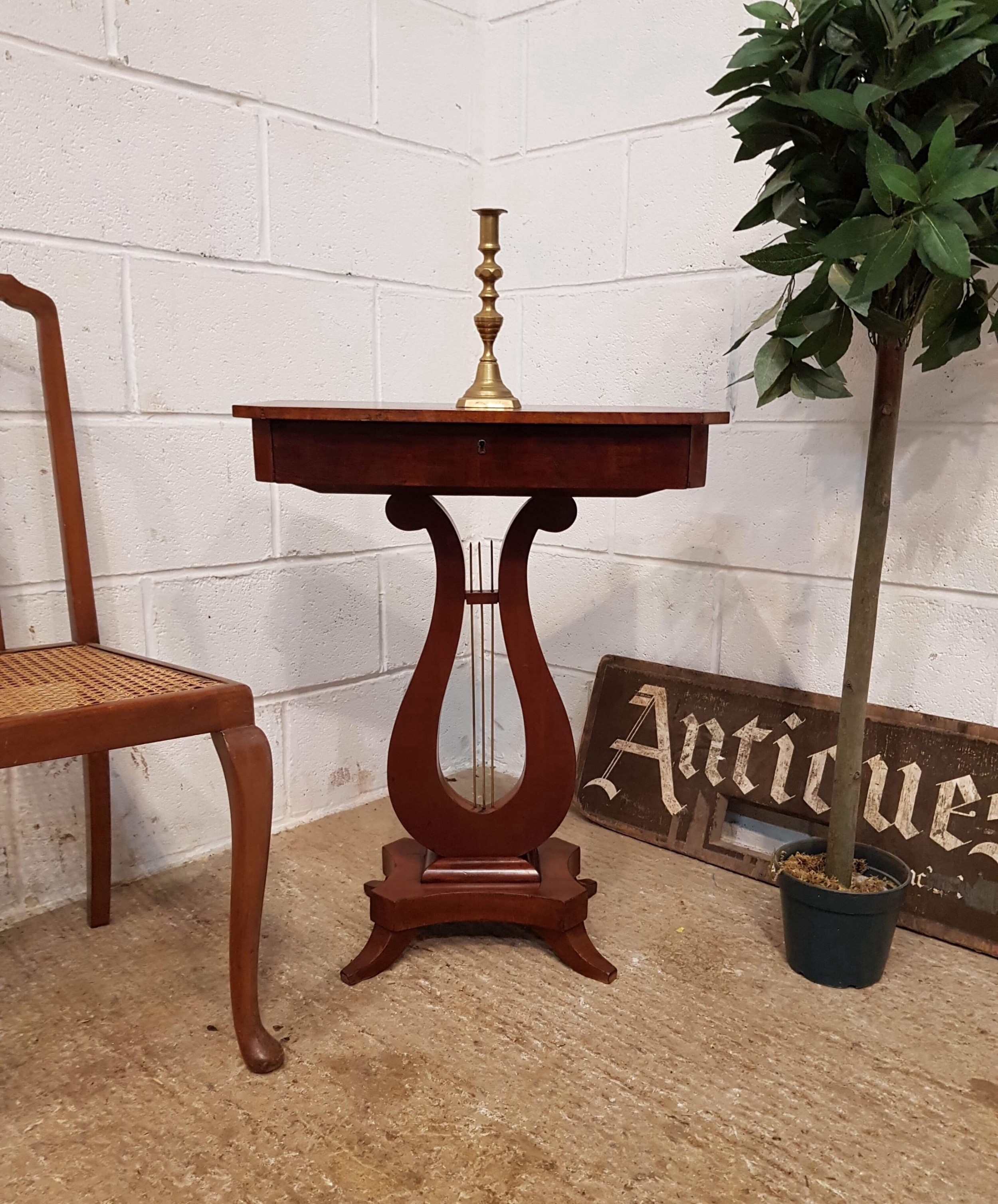 antique small edwardian mahogany side work table c1900