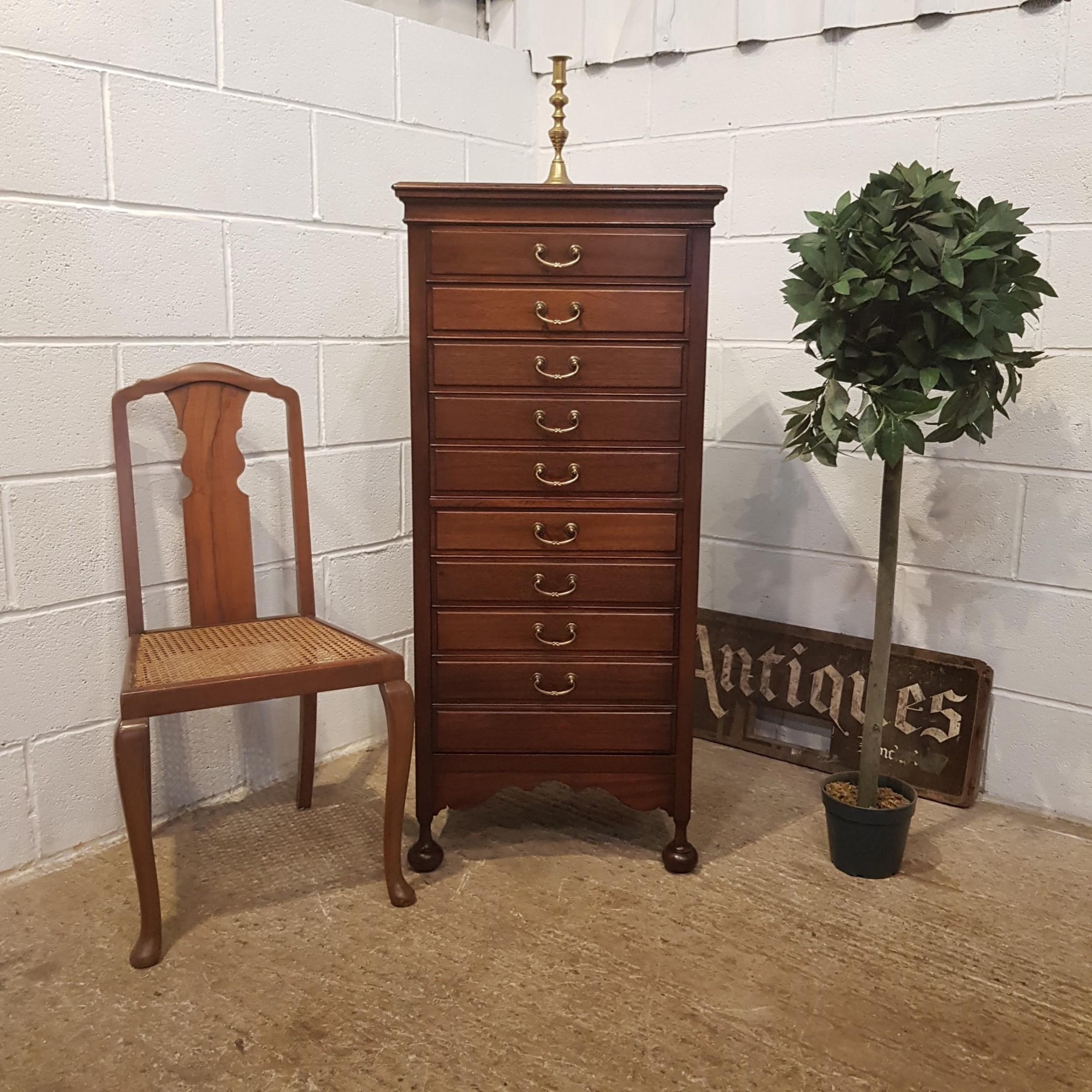 antique edwardian mahogany music cabinet with secret drawer c1900