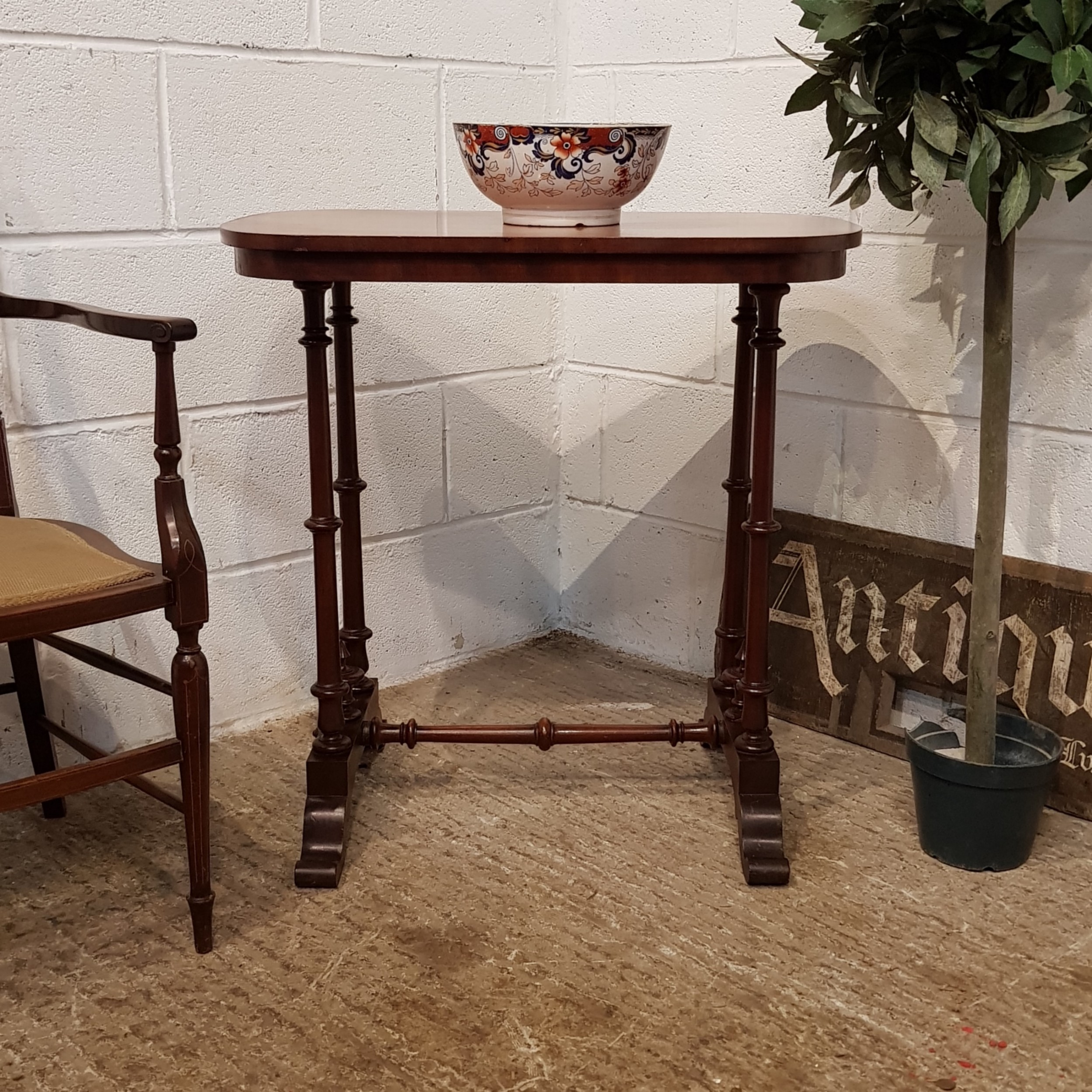 antique victorian mahogany side table c1880