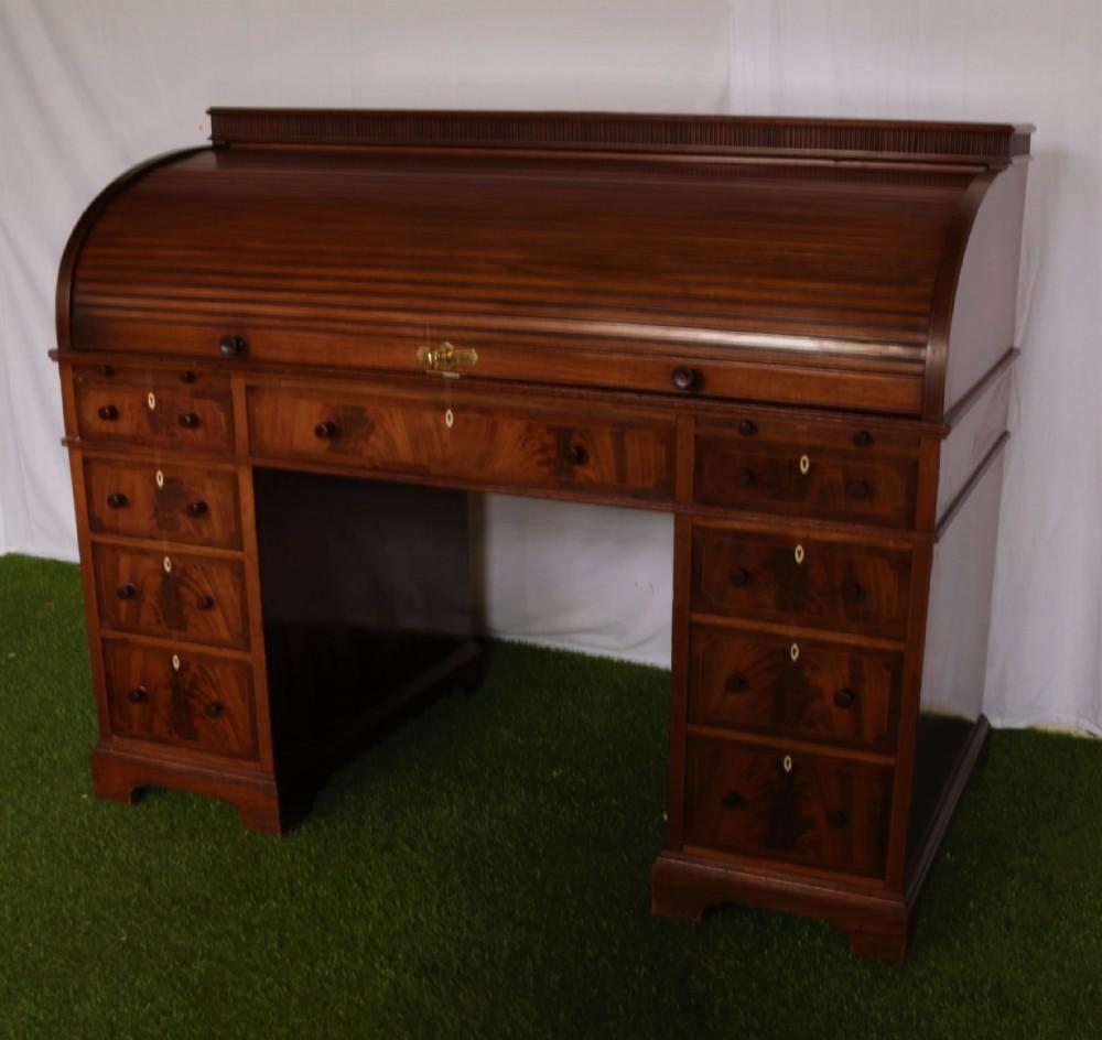 mahogany cylinder top desk