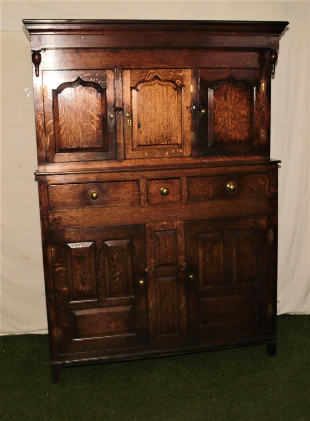 period oak court cupboard