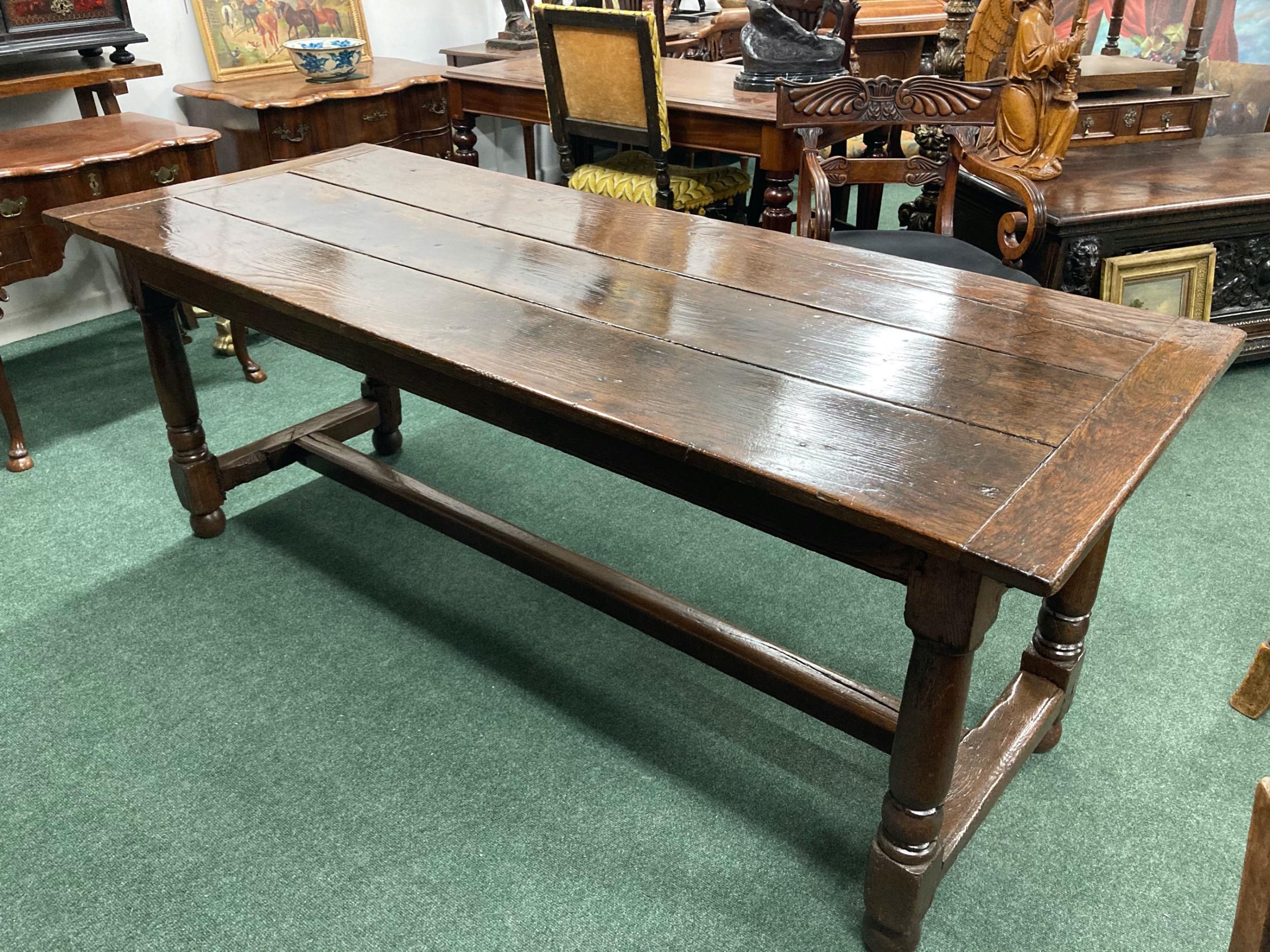18th century oak farmhouse dining or kitchen table