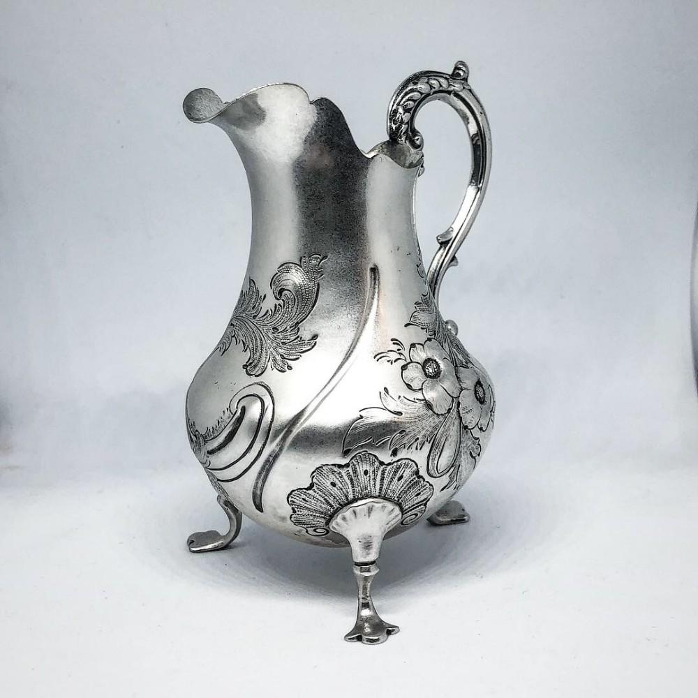 victorian provincial silver cream jug