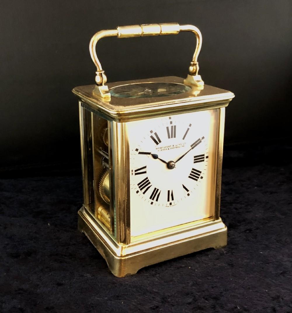 late 19th century french gilt brass carriage clock