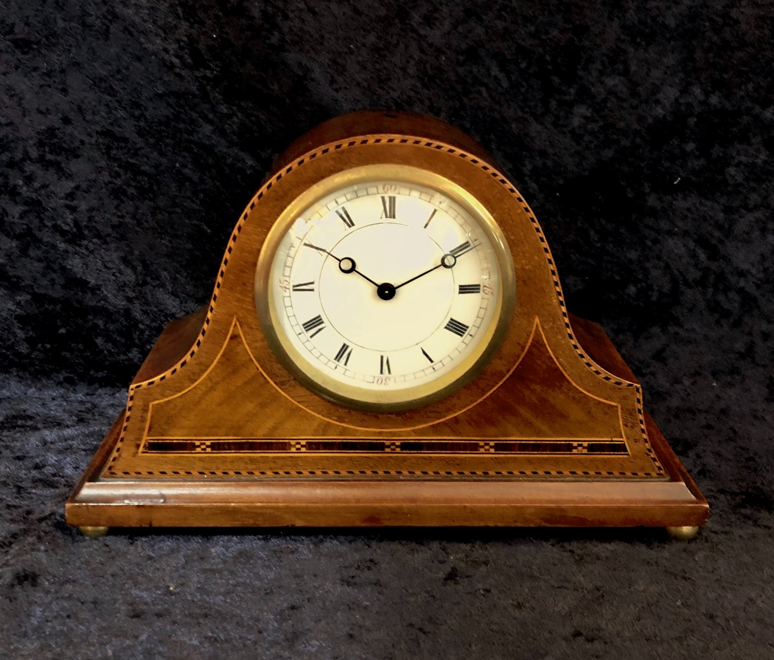 edwardian mahogany mantle clock timepiece
