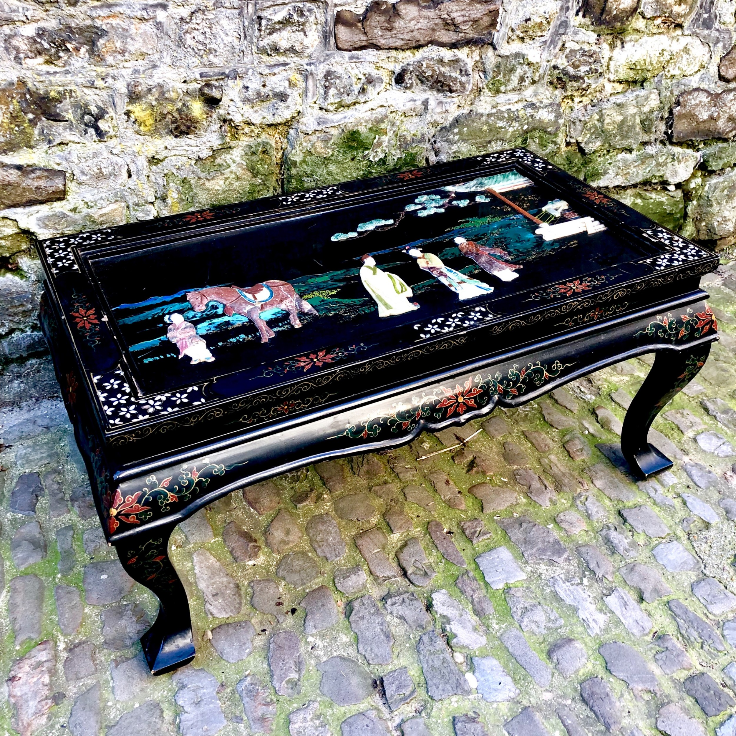 late 19th century chinese lacquer coffee table