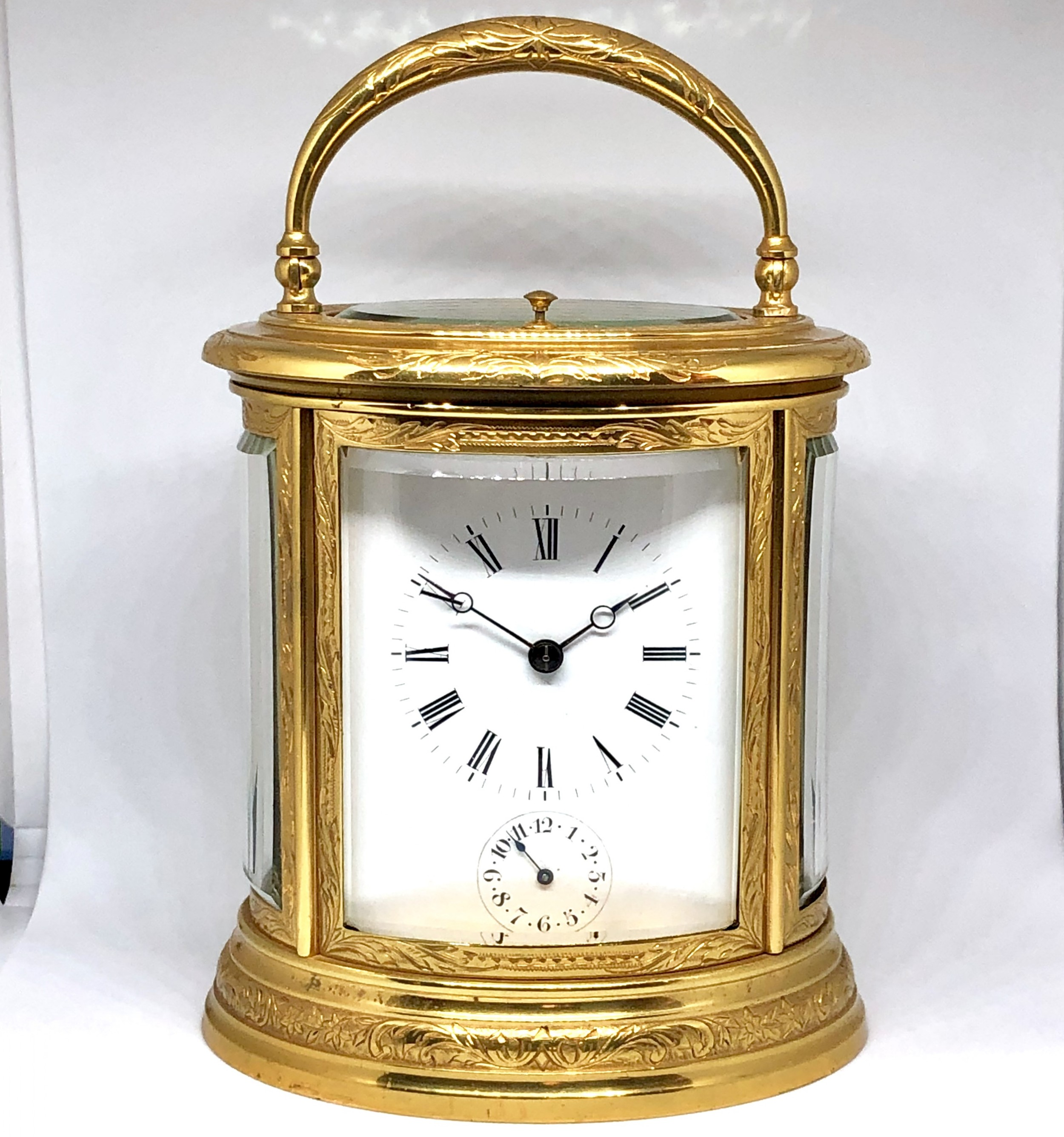 a fine late 19th century french gilt brass carriage clock by brunelot