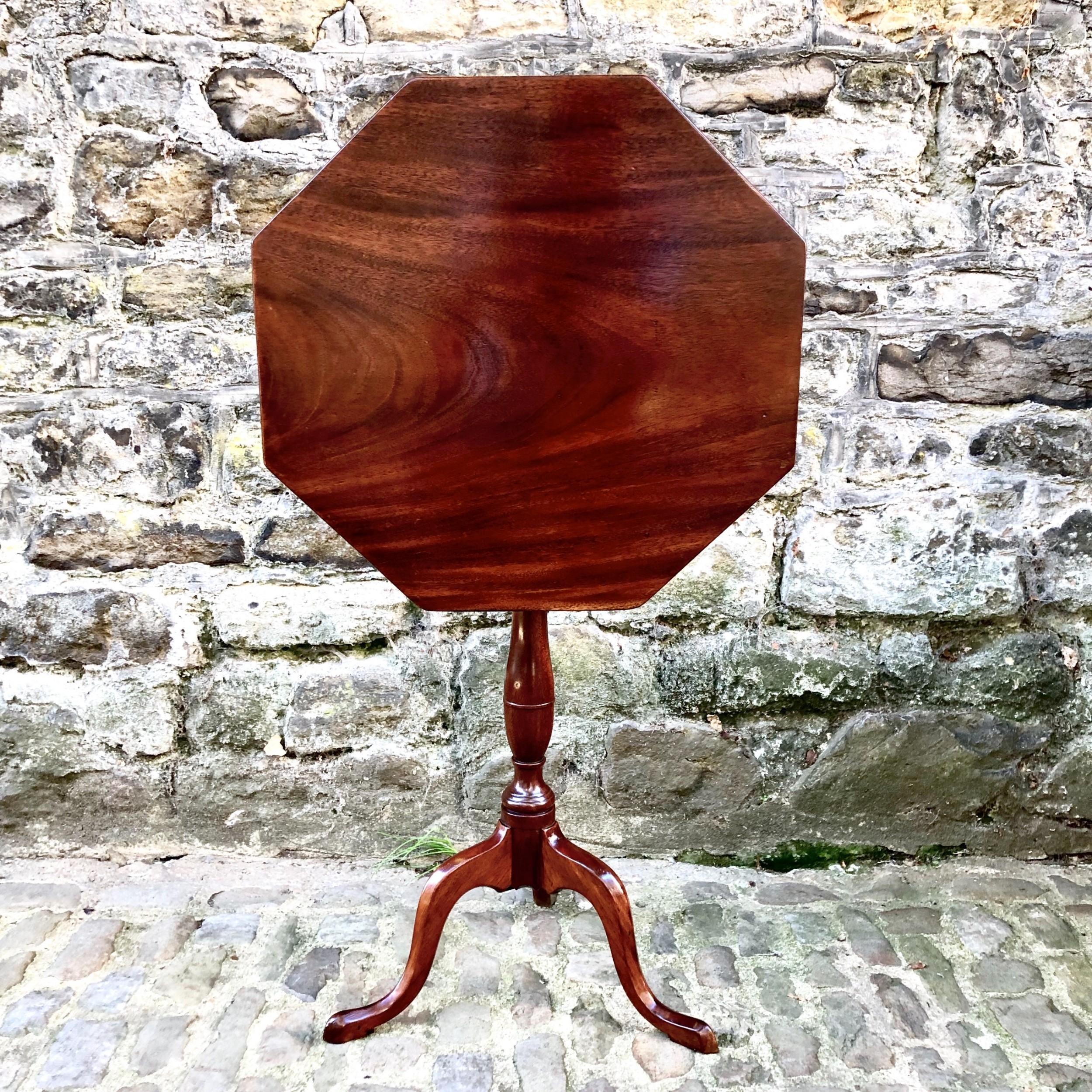 a george iii mahogany tilttop wine table