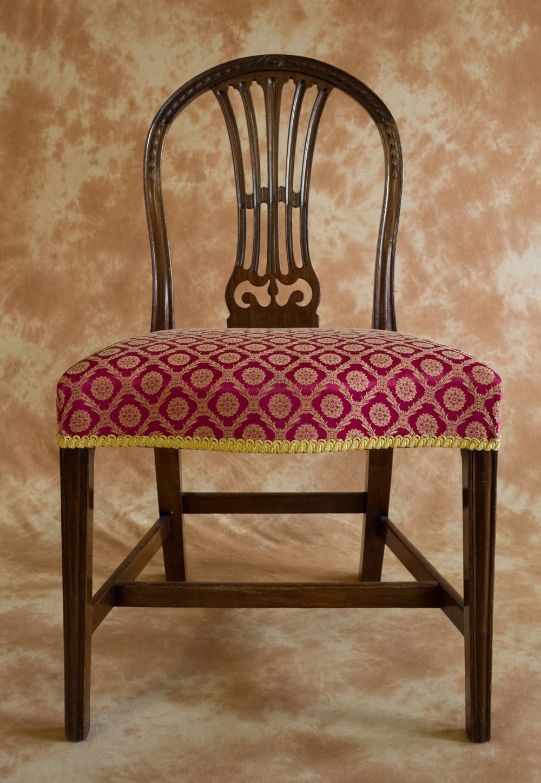 harlequin set of 8 george iii period mahogany chairs