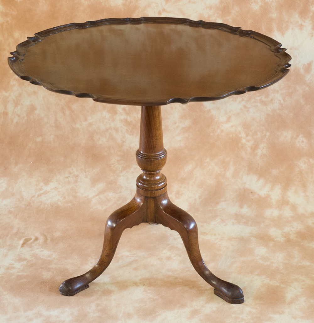 george iii mahogany pie crust top tripod table