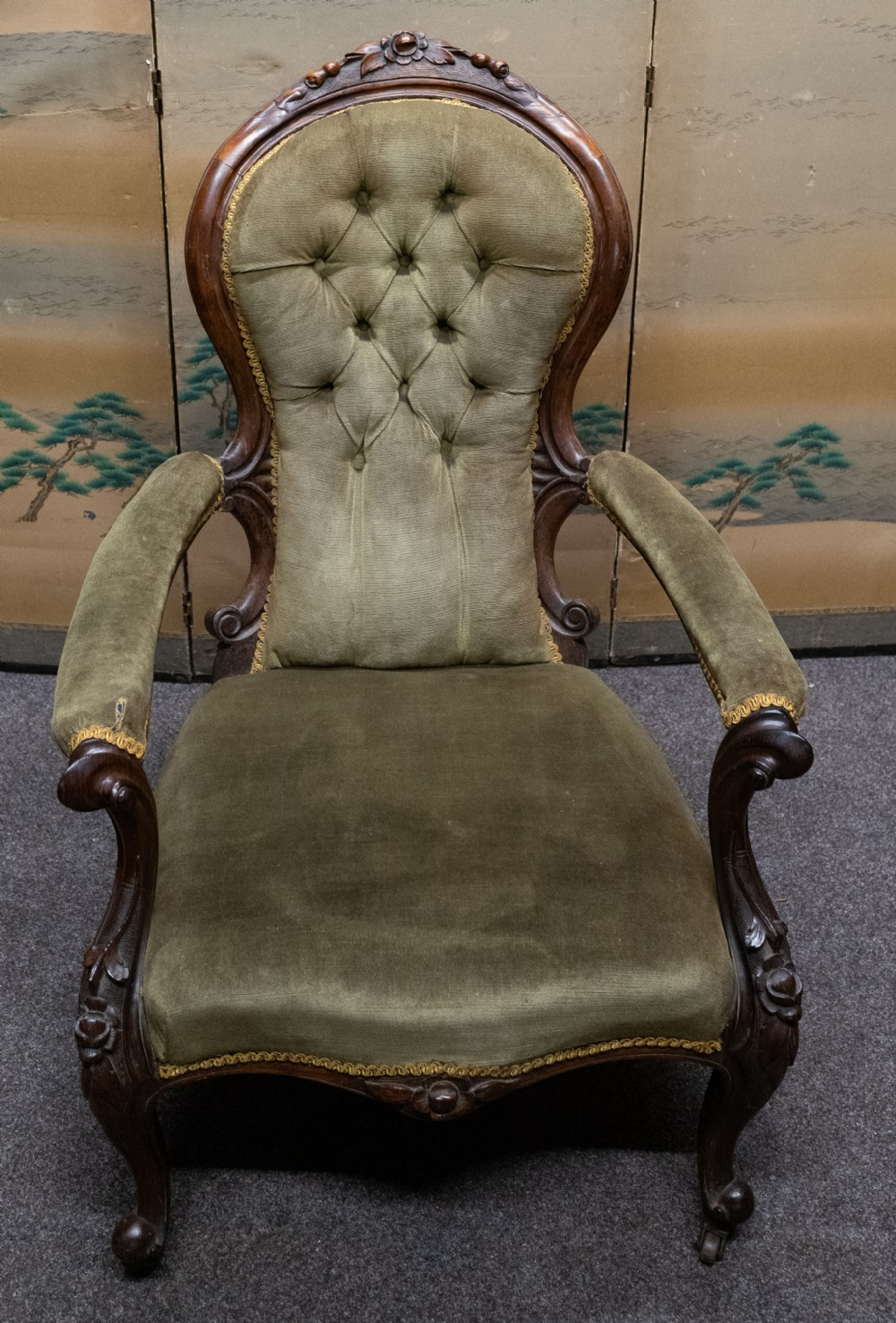 solid rosewood easy chair