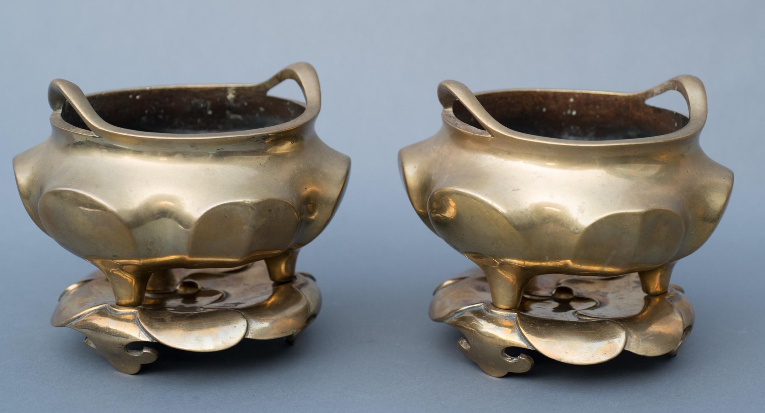 pair of chinese bronze censors