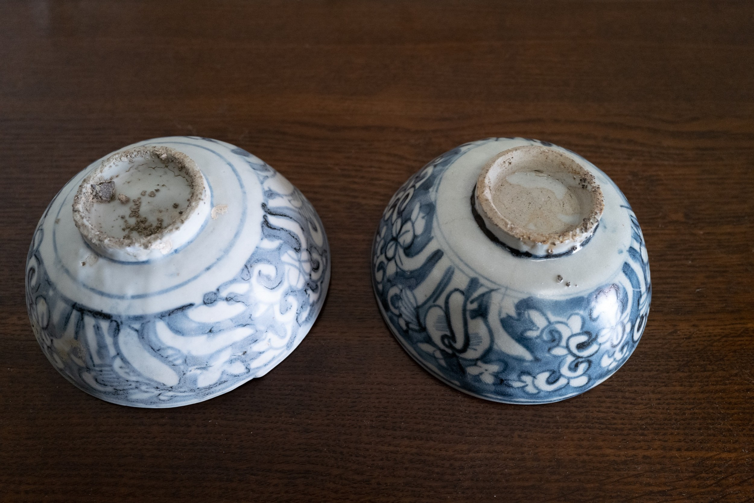 pair of ming dynasty blue and white bowls