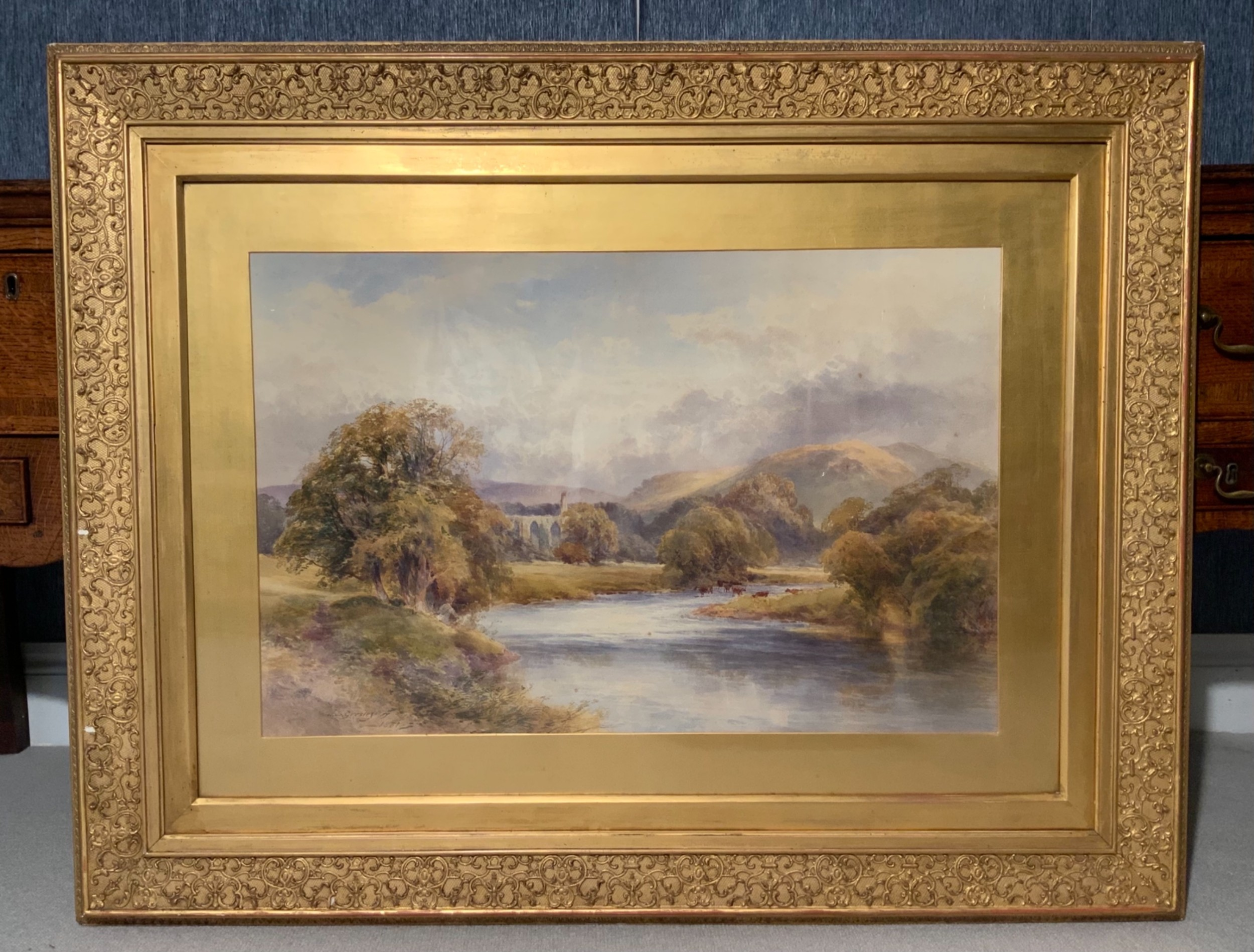 a large watercolour by james stephen gresley