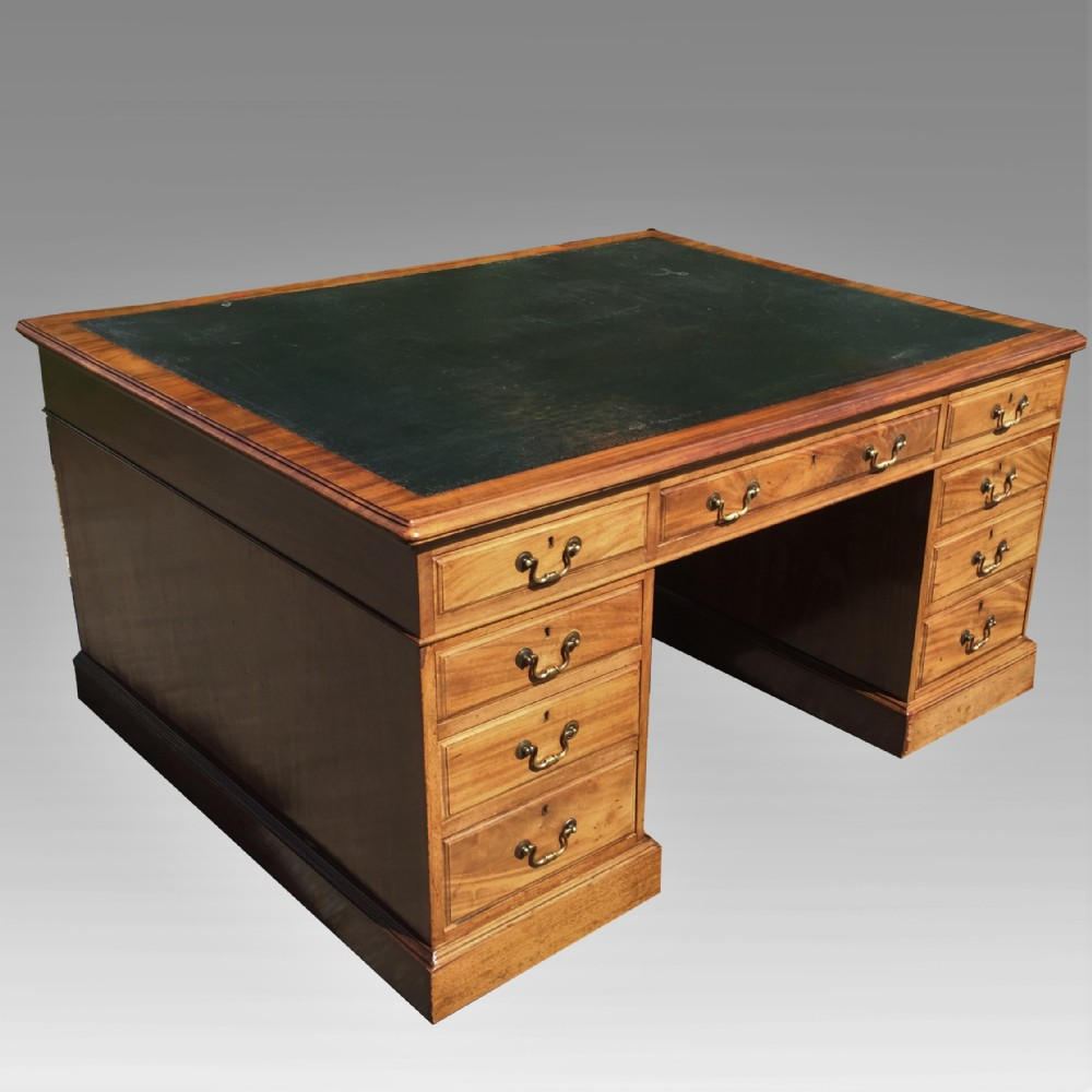 19th century mahogany partners desk late 19th century mahogany partners desk