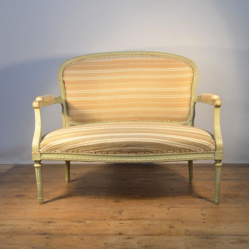 Antique Sofa Reupholstery Cost: Pretty Two Seat French Canape / Sofa (inc Reupholstery