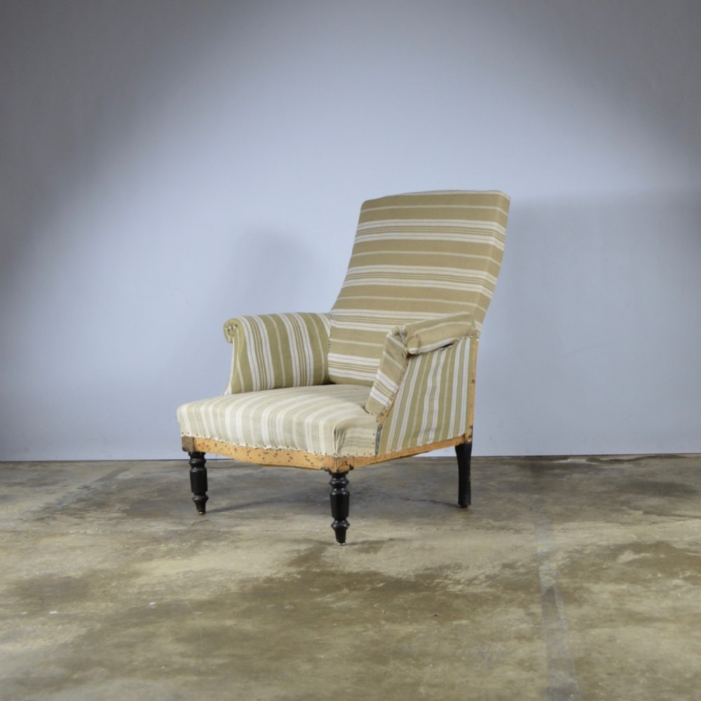 french fauteuil full reupholstery included