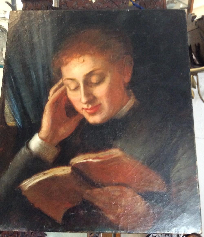 19th century english school girl reading