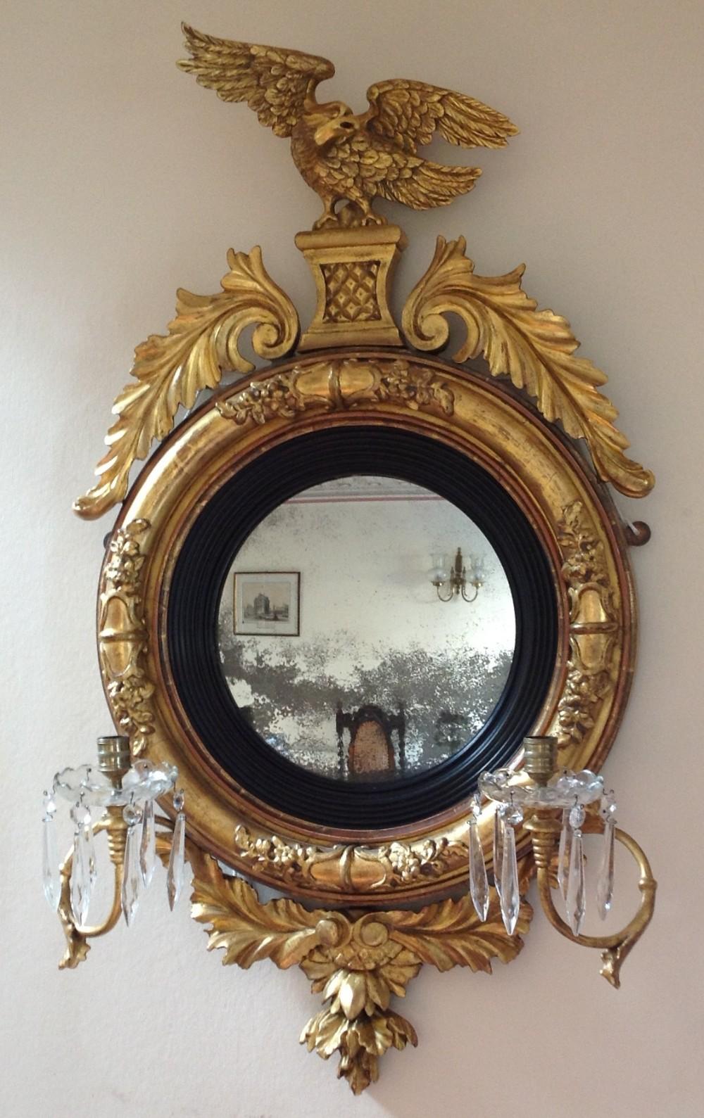 Stunning Regency Convex Mirror 250628 Sellingantiques
