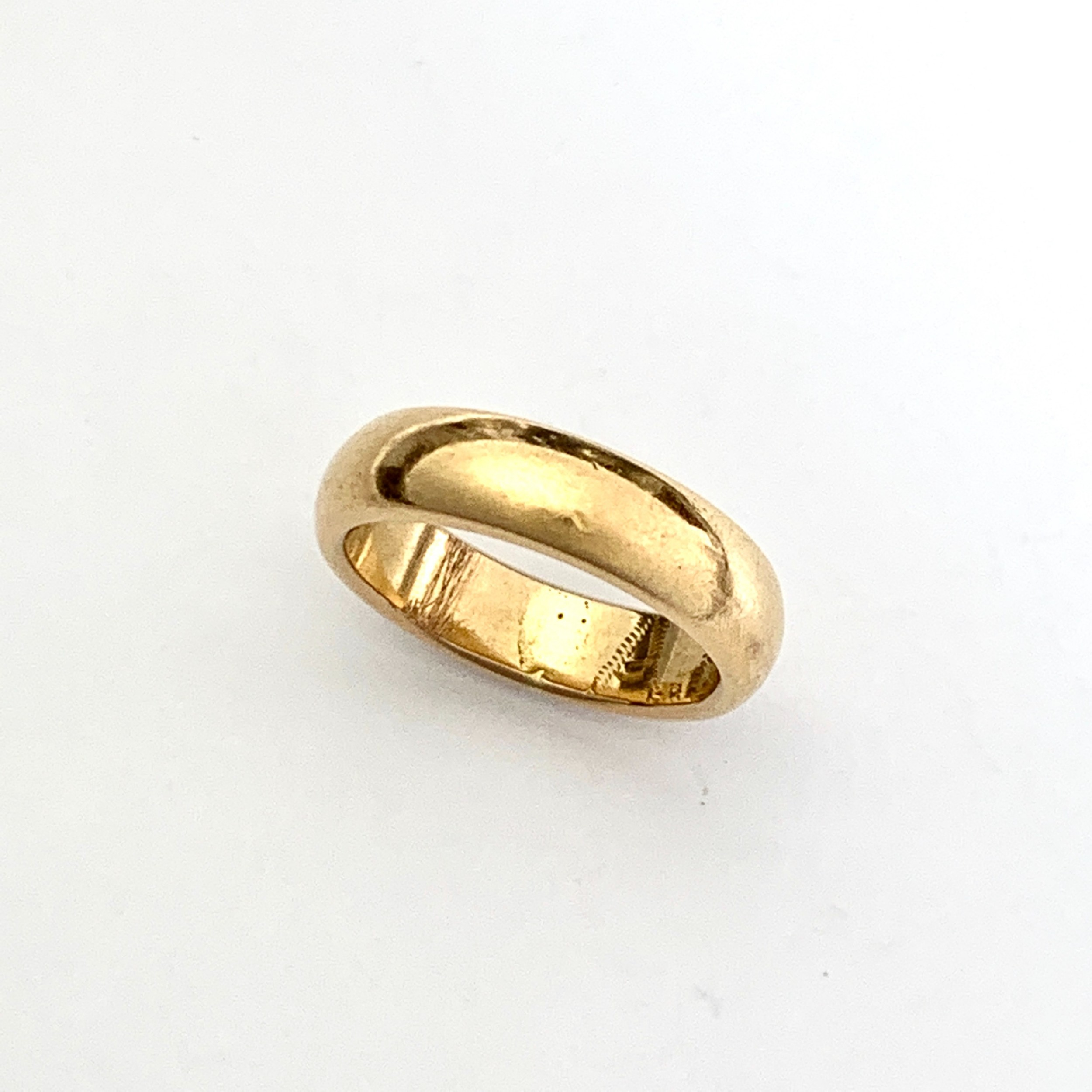 vintage 22ct rosy gold wedding ring