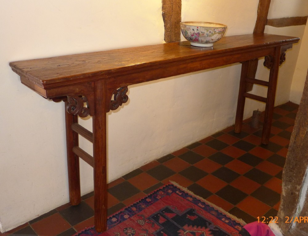 Th cent chinese console table sellingantiques