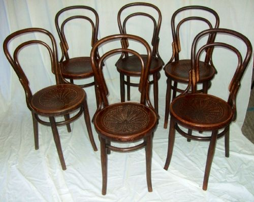 Good Set Of 6 Mazowia Bentwood Cafe Chairs