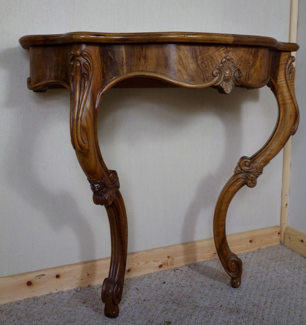 French walnut decorative console table 326517 - Ornate hall table ...