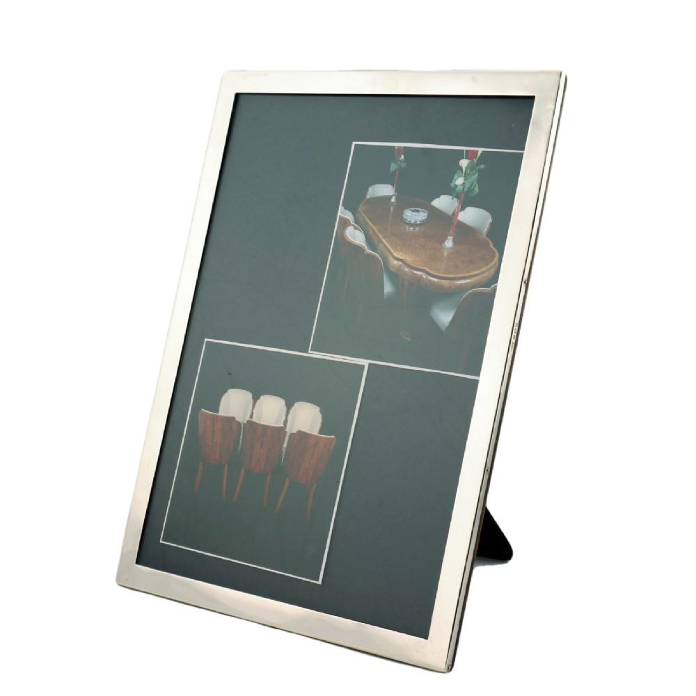 art deco silver picture frame