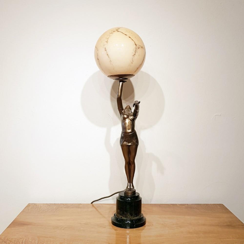 Art Deco Lady Lamp 581310 Sellingantiques Co Uk