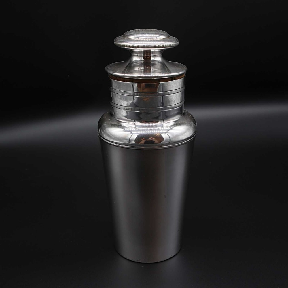 good art deco princes plate cocktail shaker by mappin webb
