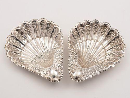 pair of elkington silver serving dishes birmingham 1892
