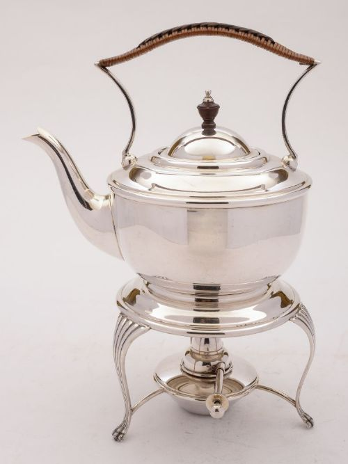 nice edwardian silver plated kettle on stand circa 1905