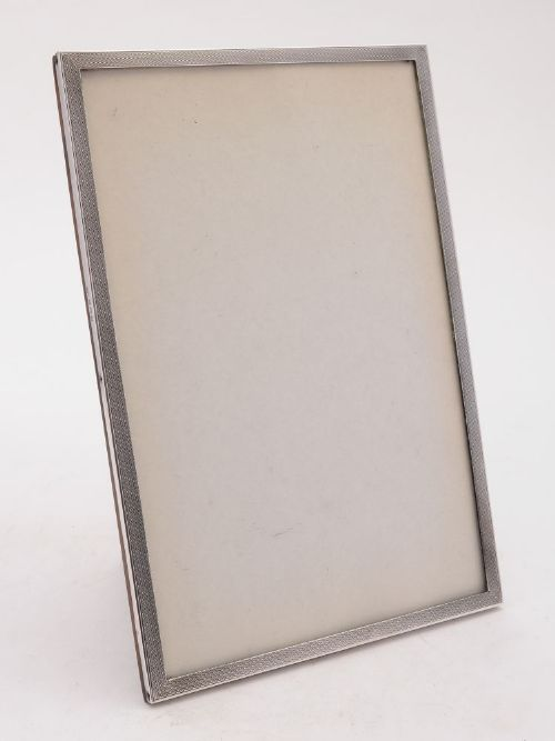 fabulous art deco silver and oak photo frame birmingham 1937