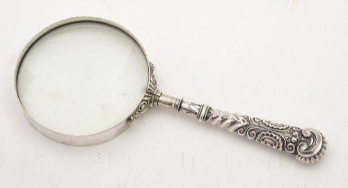 nice victorian silver handled magnifying glass birmingham 1890