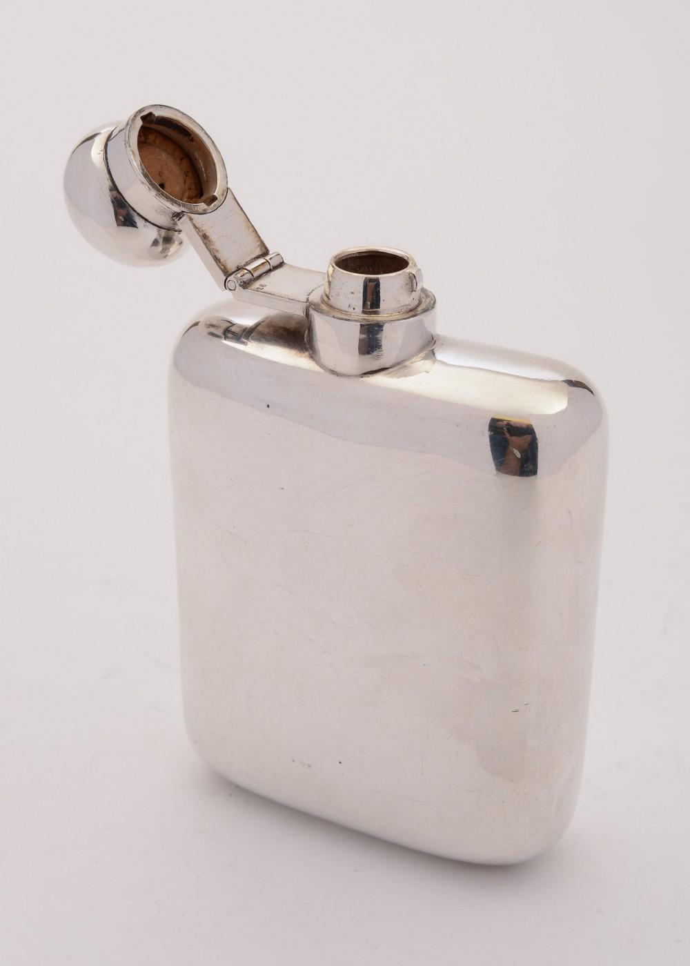 nice silver plated hip flask circa 1930
