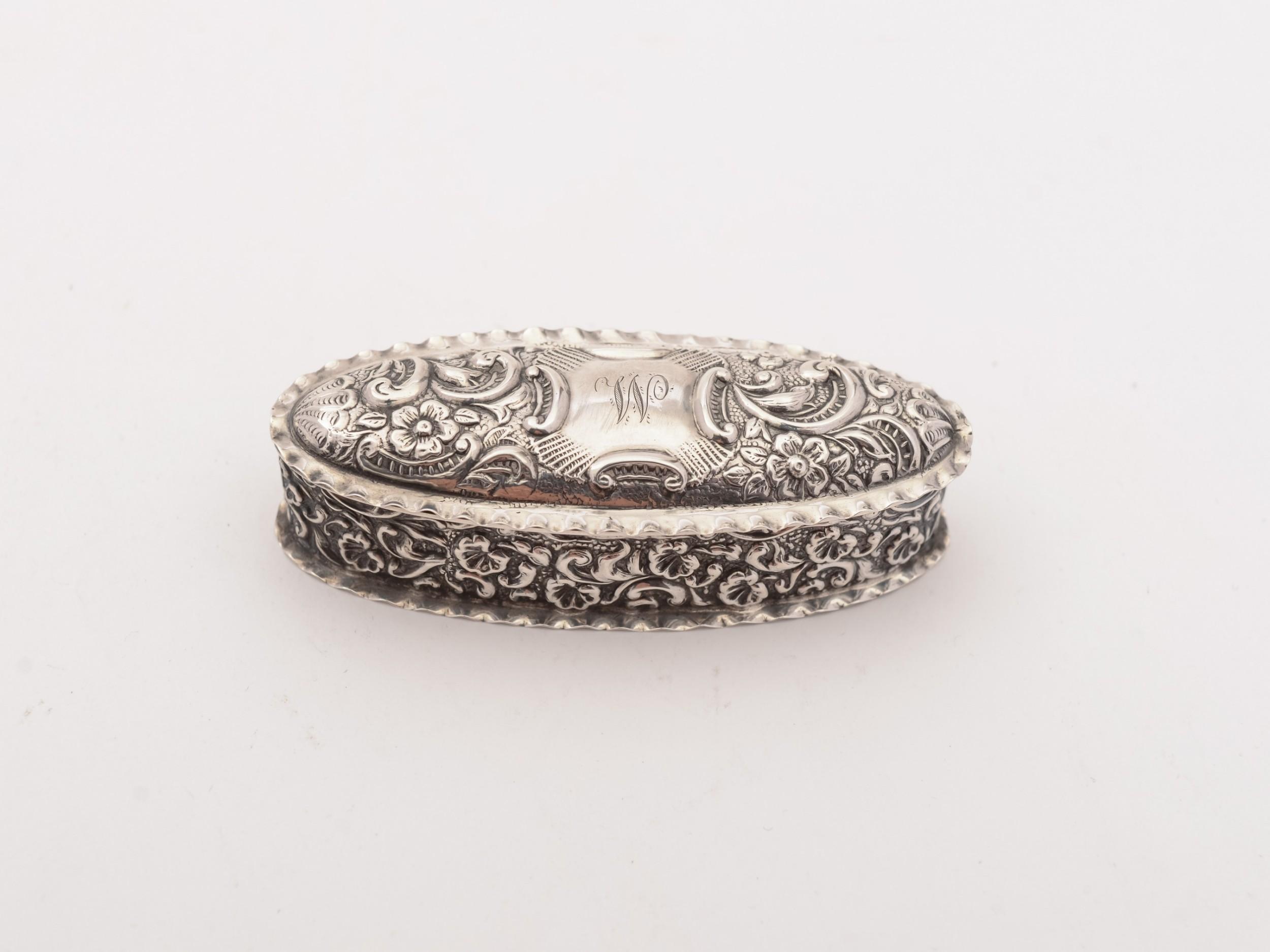 edwardian silver snuff box birmingham 1903