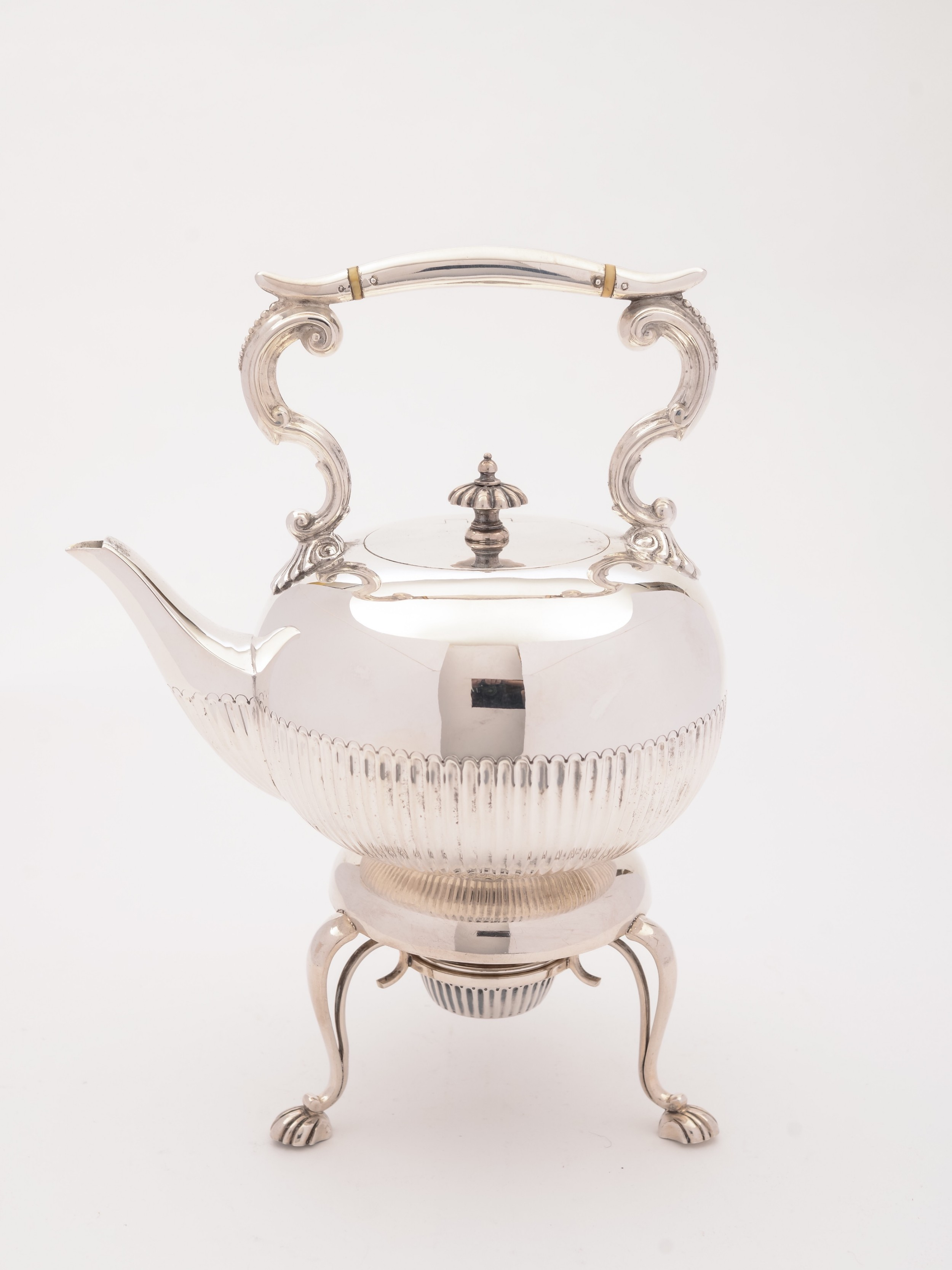 edwardian silver zplated kettle on stand circa 1905
