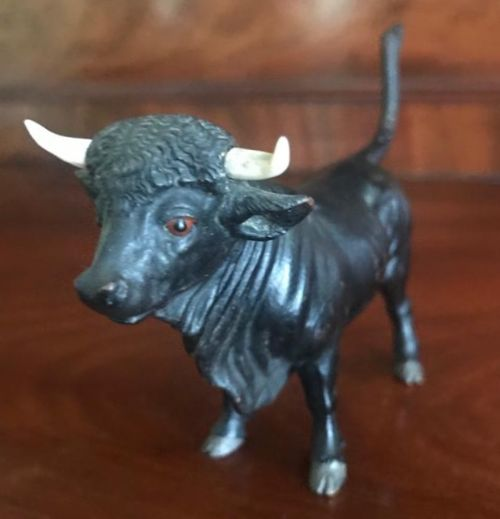 cold painted bronze bull