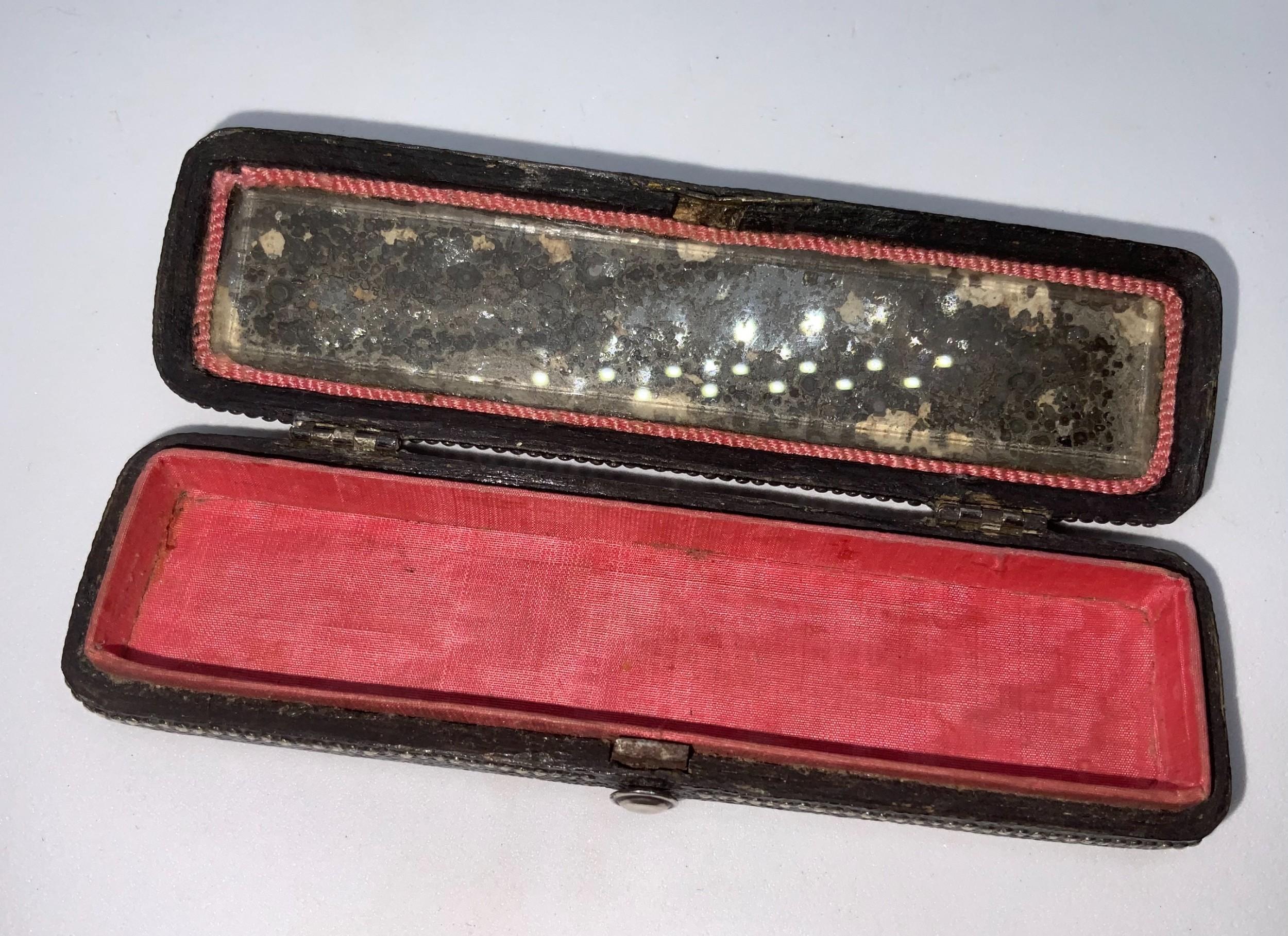 georgian shagreen toothpick box