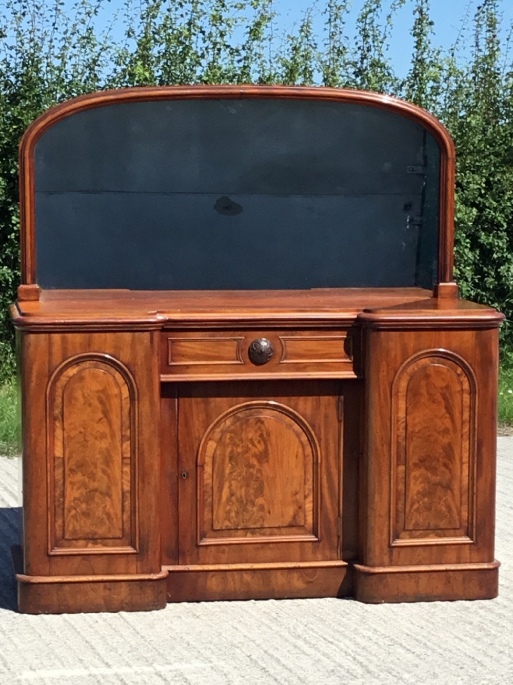 fabulous quality compact victorian sideboard with mirror