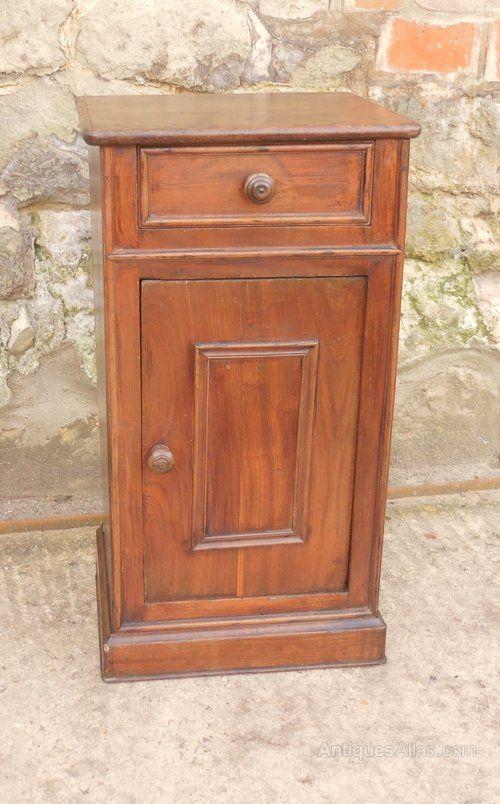 french chestnut bedside cupboard