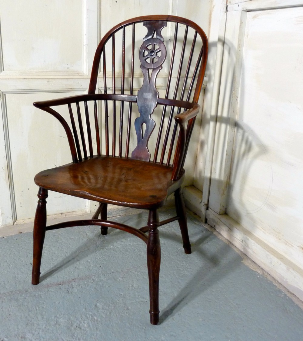 a georgian elm and yew wheel back windsor carver chair & A Georgian Elm And Yew Wheel Back Windsor Carver Chair | 336510 ...