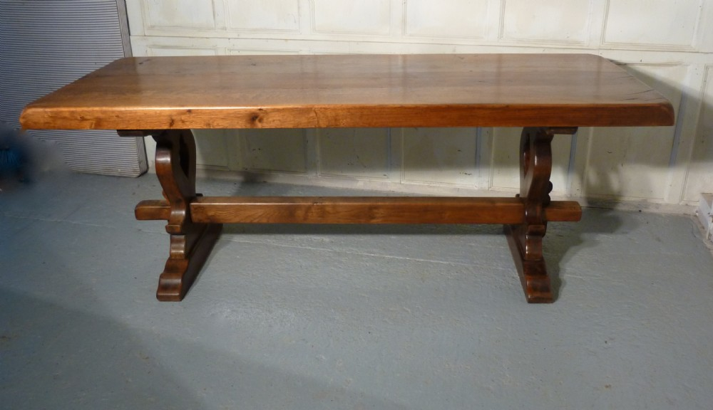 A large french oak refectory table table monast re 337594 sellingantique - Table monastere relookee ...