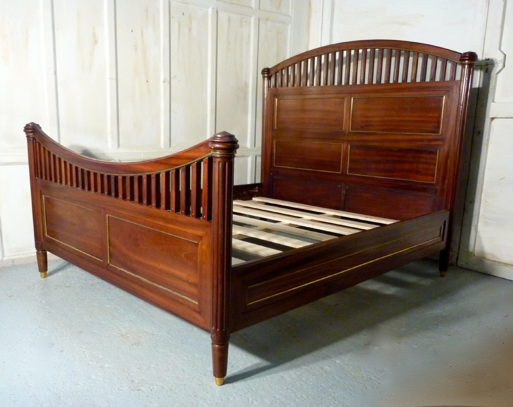 A stunning french empire style double king size bed for Empire style bed